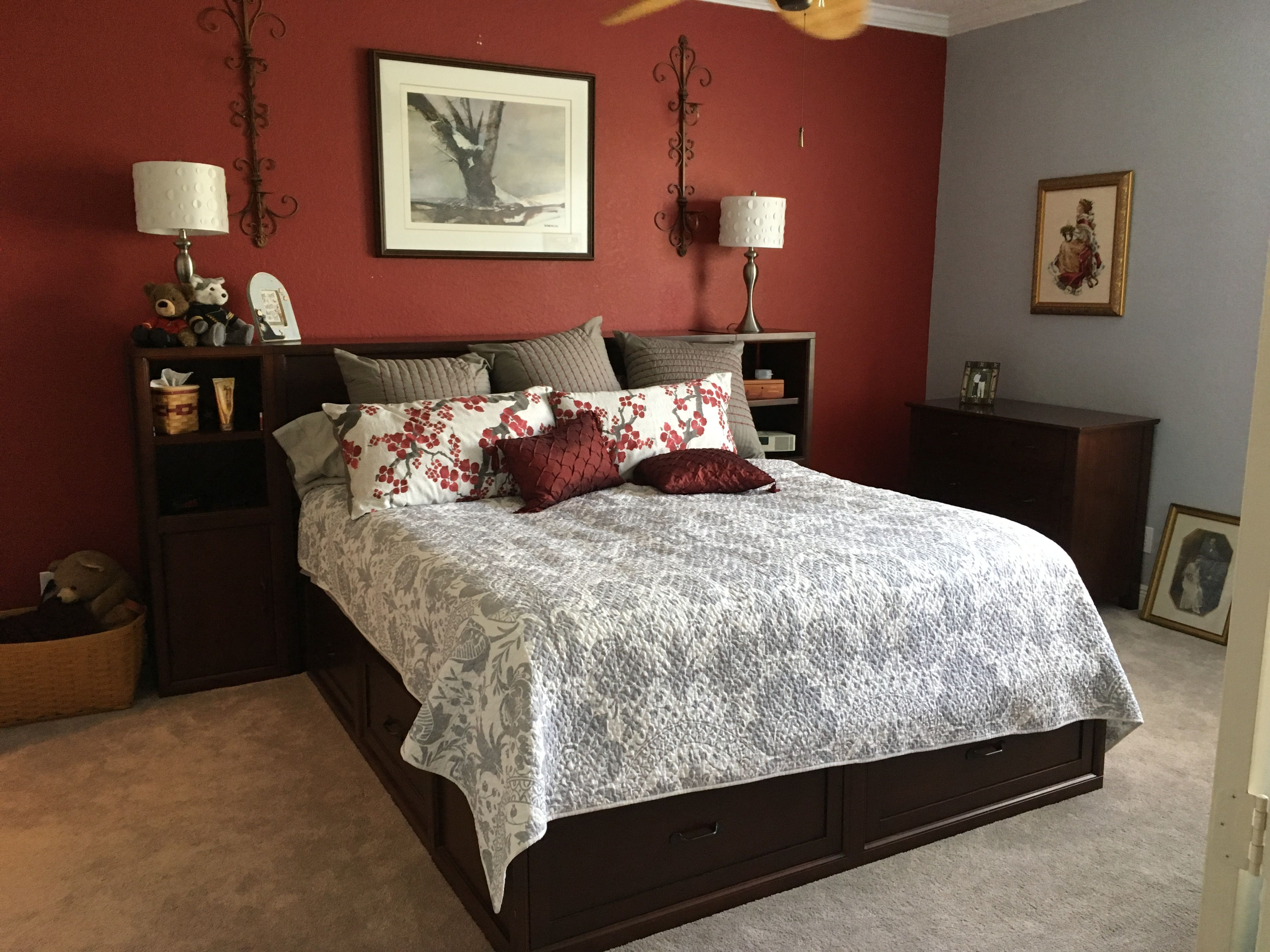 Master bedroom done with the Pottery Barn furniture from