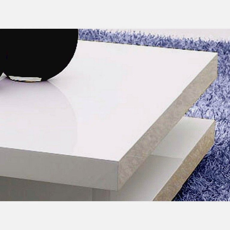 Table Basse Carree 100x100 En Mdf Laque Coloris Blanc 35