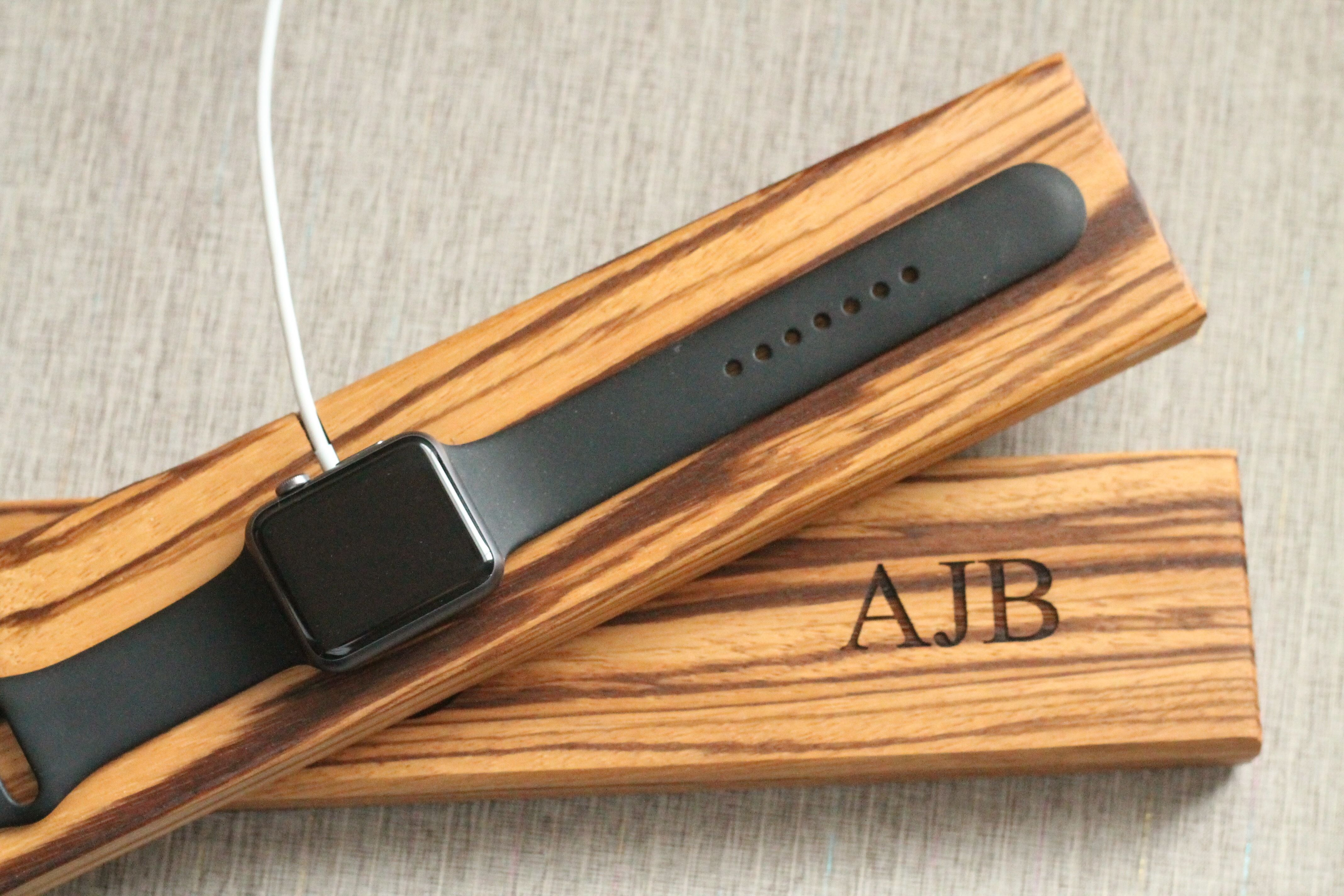 Limited quanitites premium exotic wood apple watch dock natural