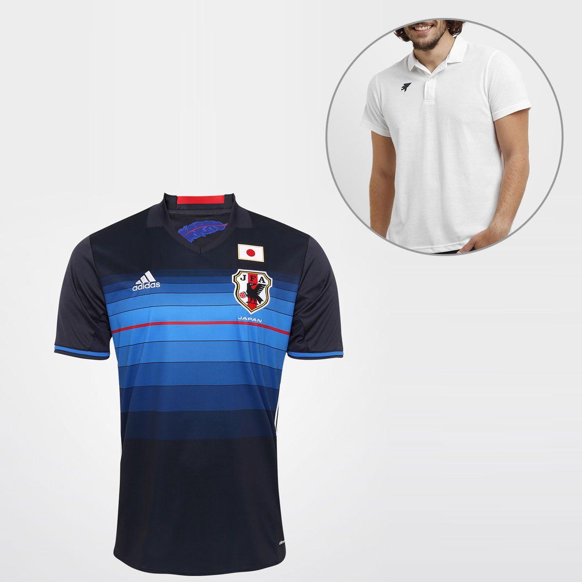 Veja Camisa Adidas Seleção Japão Home 2016 s/nº + Camisa Polo Joma e outros productos na Netshoes