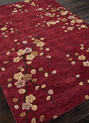 Banks Hand Tufted Abr0139 Red Area Rug