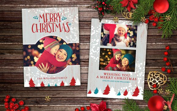 Christmas Card  Rustic Cottage  Flyer Template Flyers And Flyer