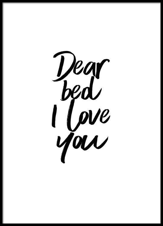 Dear bed Poster in der Gruppe Poster / Größen und Formate / 30x40cm bei Desenio AB (2058) #deseniobilderwand