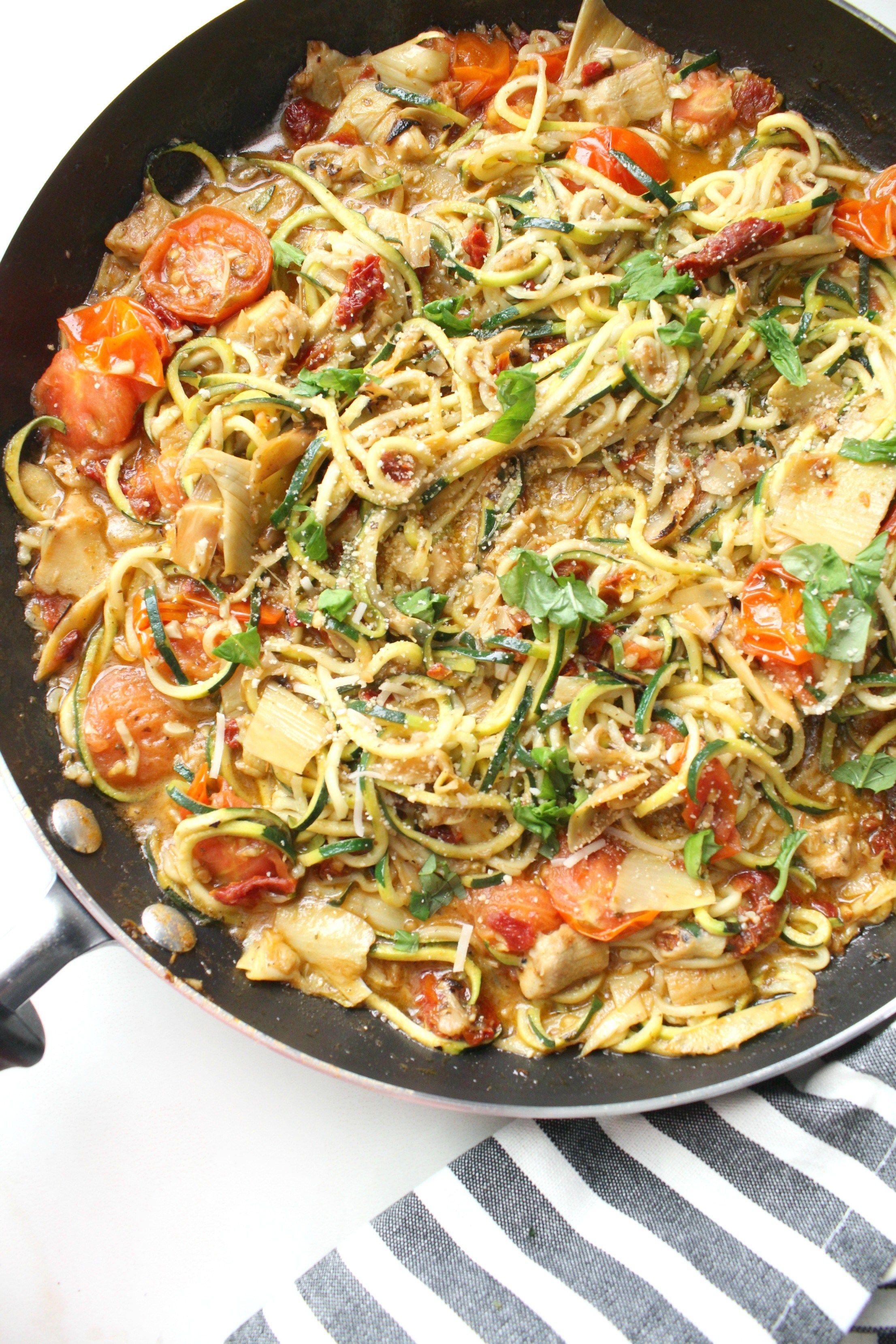 Mediterranean Zucchini Noodles This Savory Vegan Recipe Vegan Zoodle Recipes Vegan Zucchini Recipes Savory Vegan