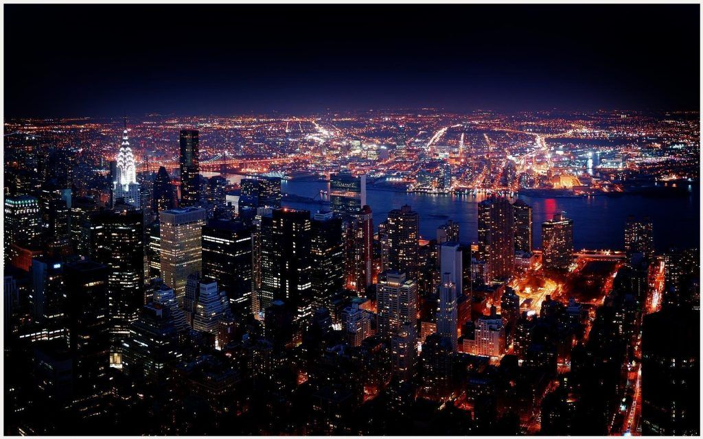 New York City Night View Hd Wallpaper New York City Night