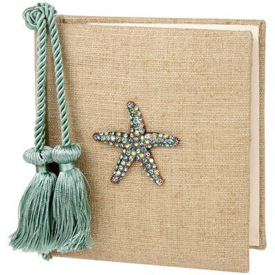 starfish photo album, DIY beach wedding guest book