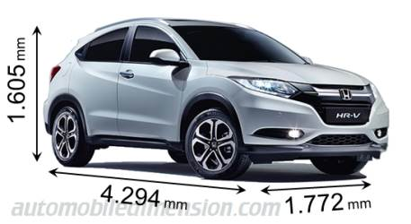 Honda HRV 2015 dimensions, boot space and interior