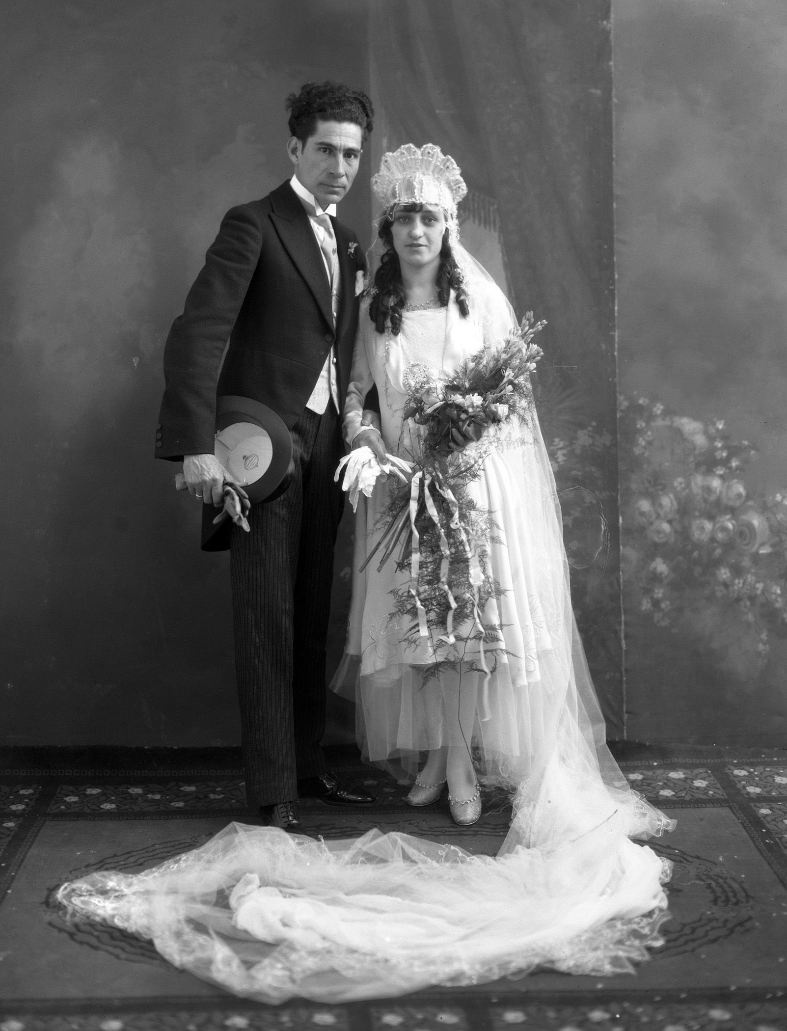 Juan Cachú, Retrato de bodas de Juan Cachú e Isabel Sampers Peña ...