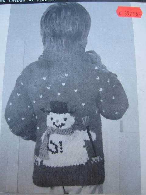See Sally Sew-Patterns For Less - Mary Maxim Snowman Cardigan ...