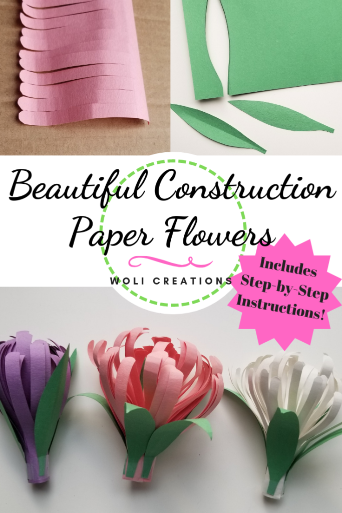 Beautiful Construction Paper Flowers - Woli Creations