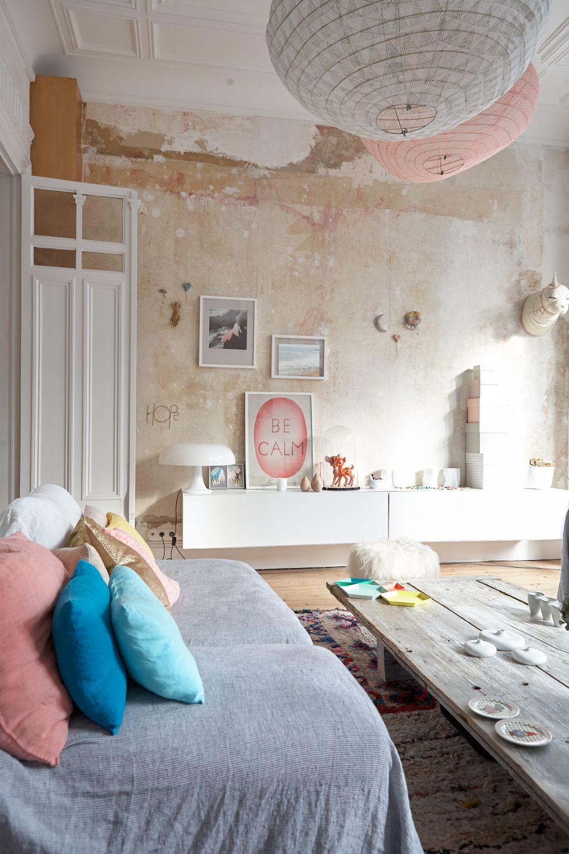 Coup de coeur d co les maisons de zo no place like home home decor home living room e decor - Case colorate interni ...