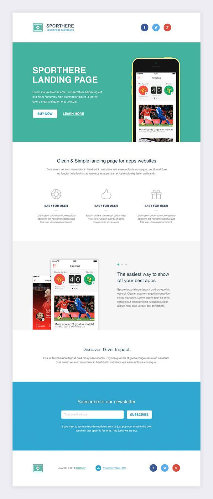 SportHere free website template — download HTML | Website Design ...