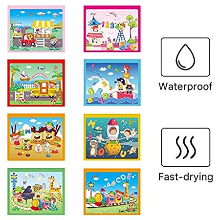 Amazonsmile Watermagic Books Reusable Water Reveal Activity Pads 2 Pk Water Coloring Books Aqua Drawing Painting Toy Letters For Kids Coloring Books Lettering