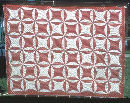 Orange Peel Quilt C 1910 Fiber Quilts Traditional
