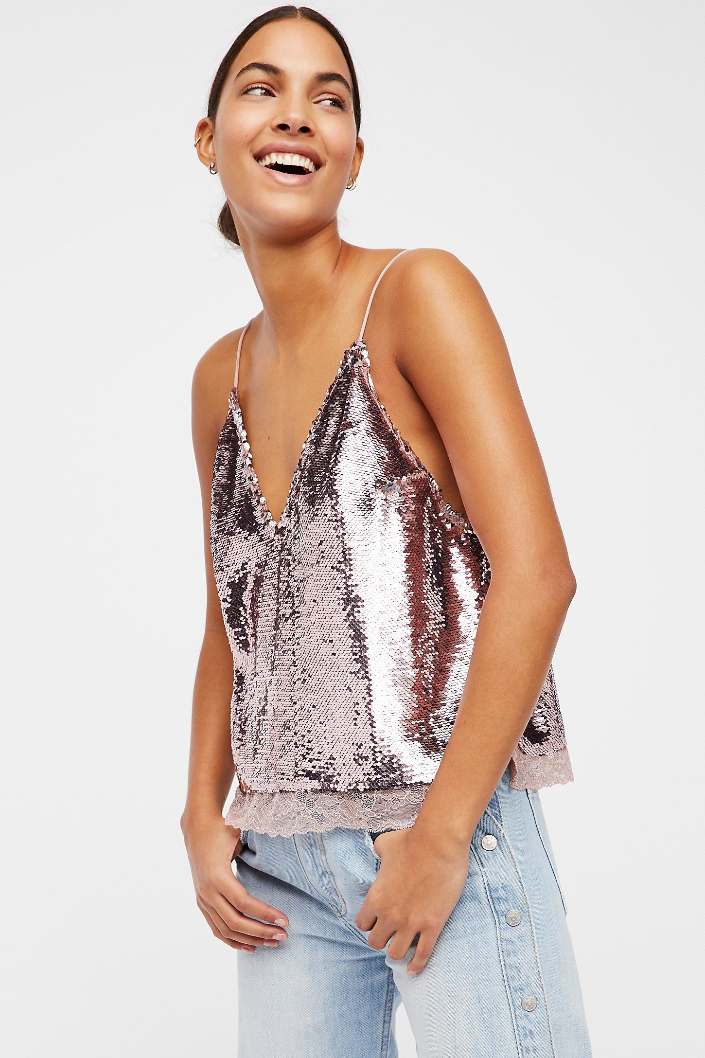 Shop our Swingin Sequin Surplice Cami at Free People.com. Share style pics  with