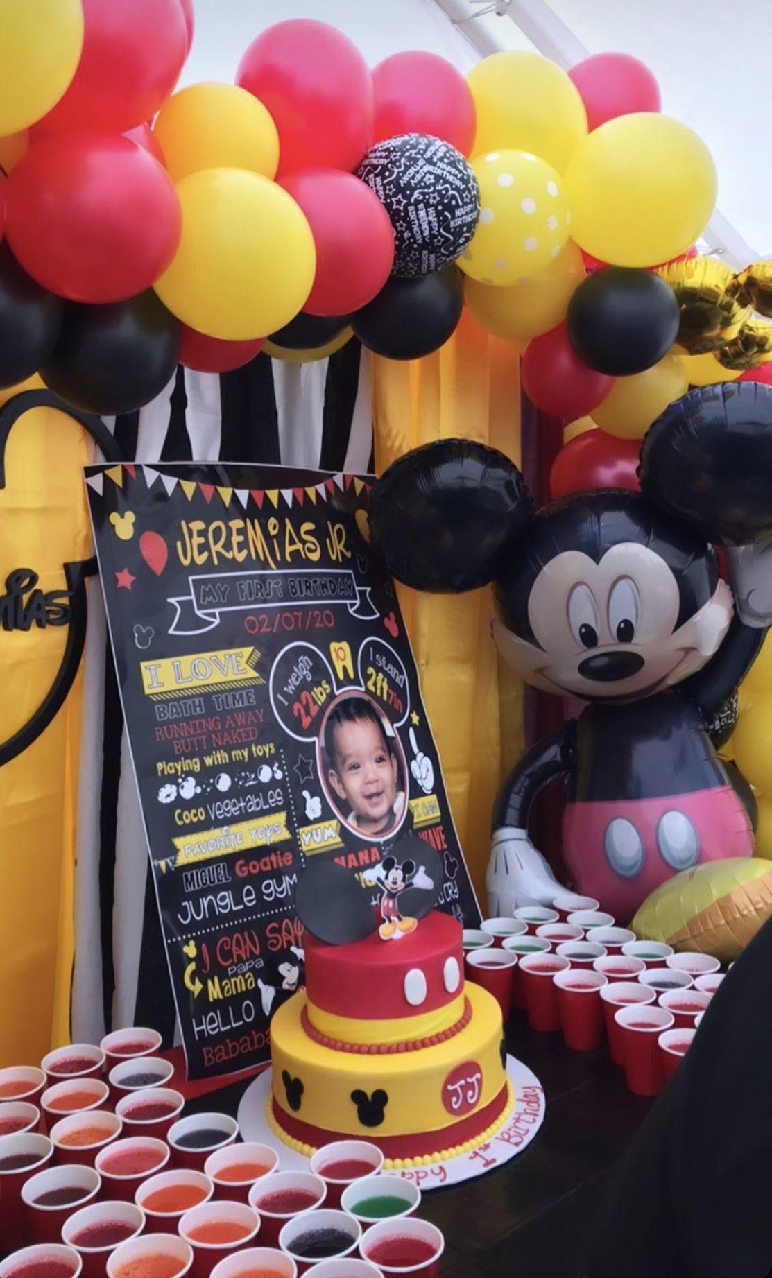 Happy 1st Birthday JJ in 2020 Mickey mouse birthday