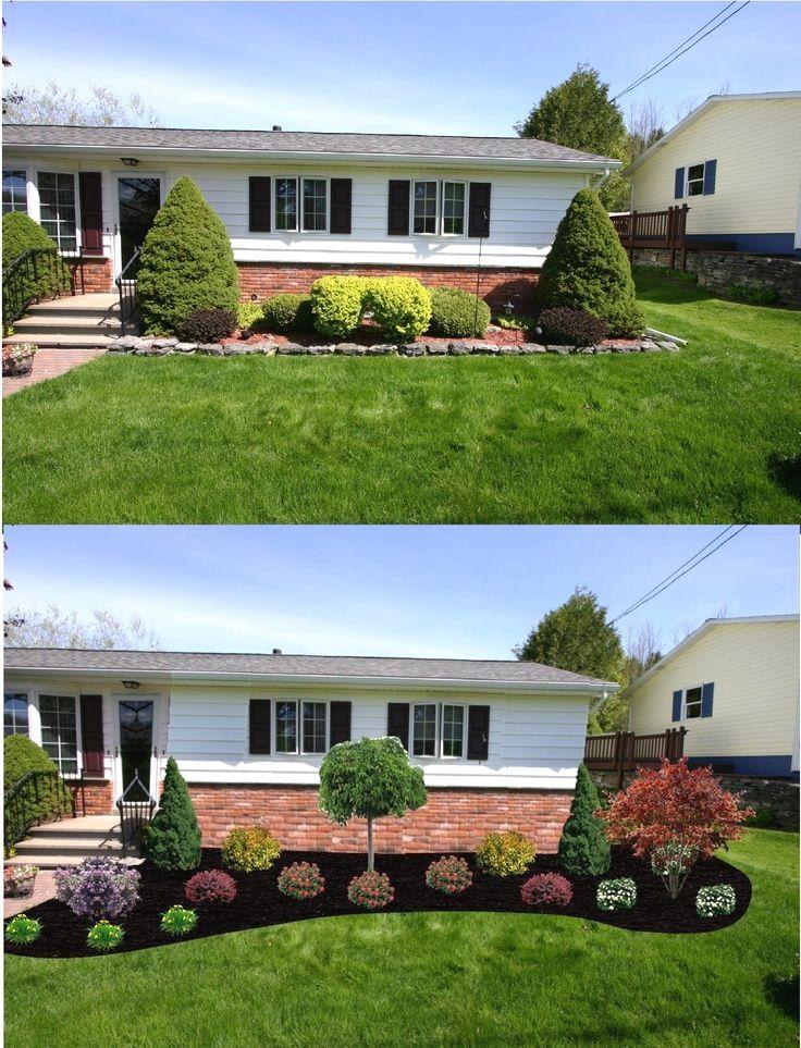 32 Creative Home Front Landscape Design Ideas Front Yard Garden Design Front House Landscaping Front Yard Landscaping Design