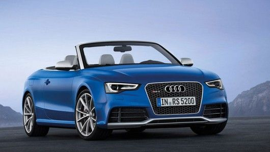 This month's Paris Auto Show saw the launch of the Audi RS5 Cabriolet. The standard A5, the sports car for people who don't like sports cars, is transformed by the installation of a hand-built 4.2 litre V8 engine producing 445 hp, plus a bunch of chassis modifications befitting the RS moniker.