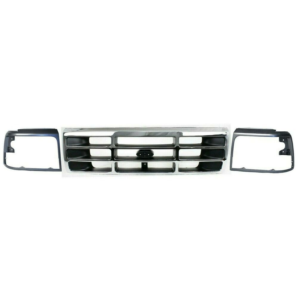 New Grille Headlight Door Dark Argent Rh Lh For Ford F250 1992 96 Pickup 2 Door Keystoneautomotiveoperations Extended Cab F250 Surface Finish