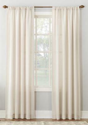 No 918 Amalfi Linen Blend Textured Sheer Rod Pocket Curtain Panel
