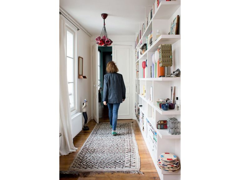 Arredare Corridoio ~ E arredare ingresso corridoio libreria a parete bianco