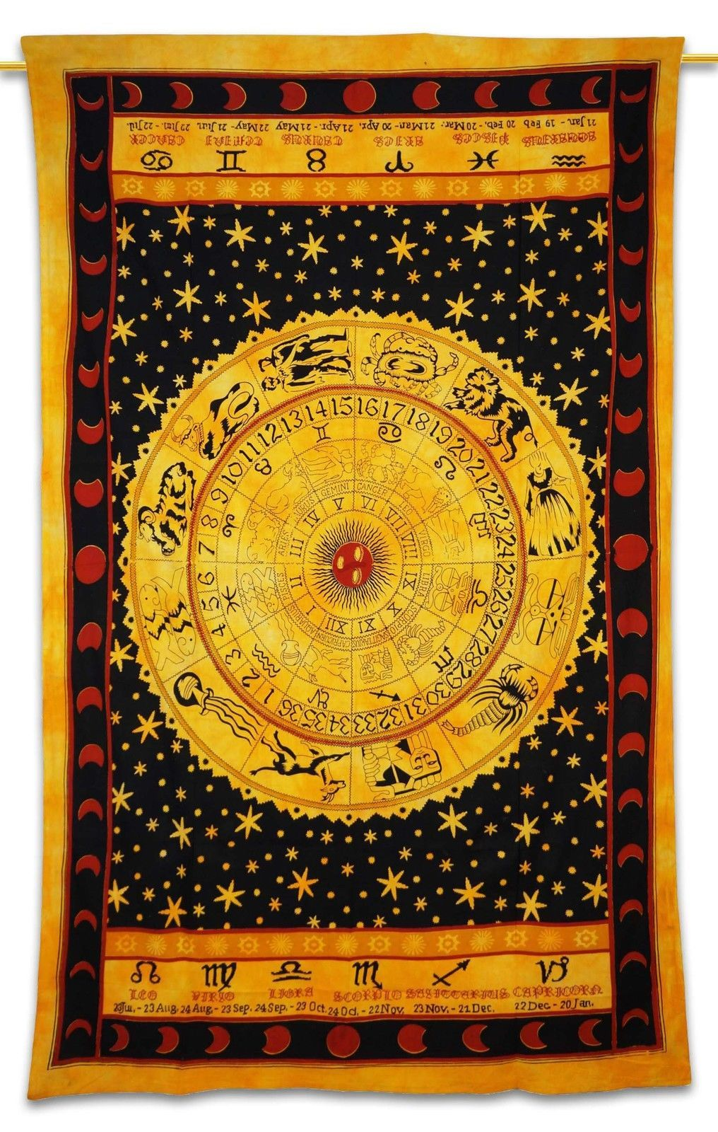 Zodiac Tapestry Wall Decor Art Twin Hippie Tapestries Cotton Wall ...