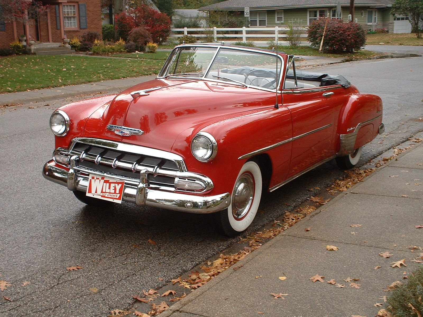 A terrific tomato red 1952 Chevrolet Convertible. #vintage #1950s ...