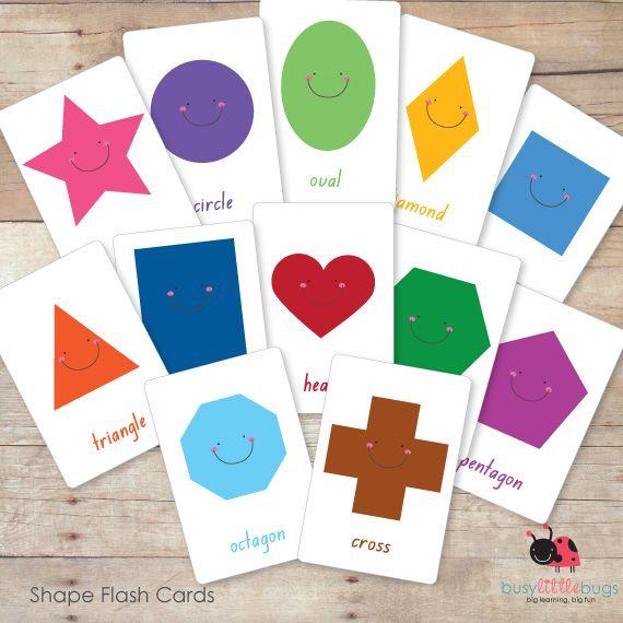 SHAPE FLASHCARDS | For the little ones | Pinterest | Shape ...