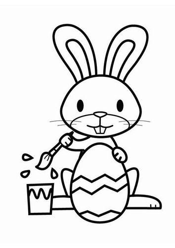 Dibujo para colorear Conejo de Pascua | Actividades para Colorear ...