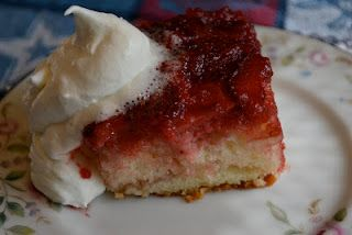 Strawberry upside-down cake.  So good