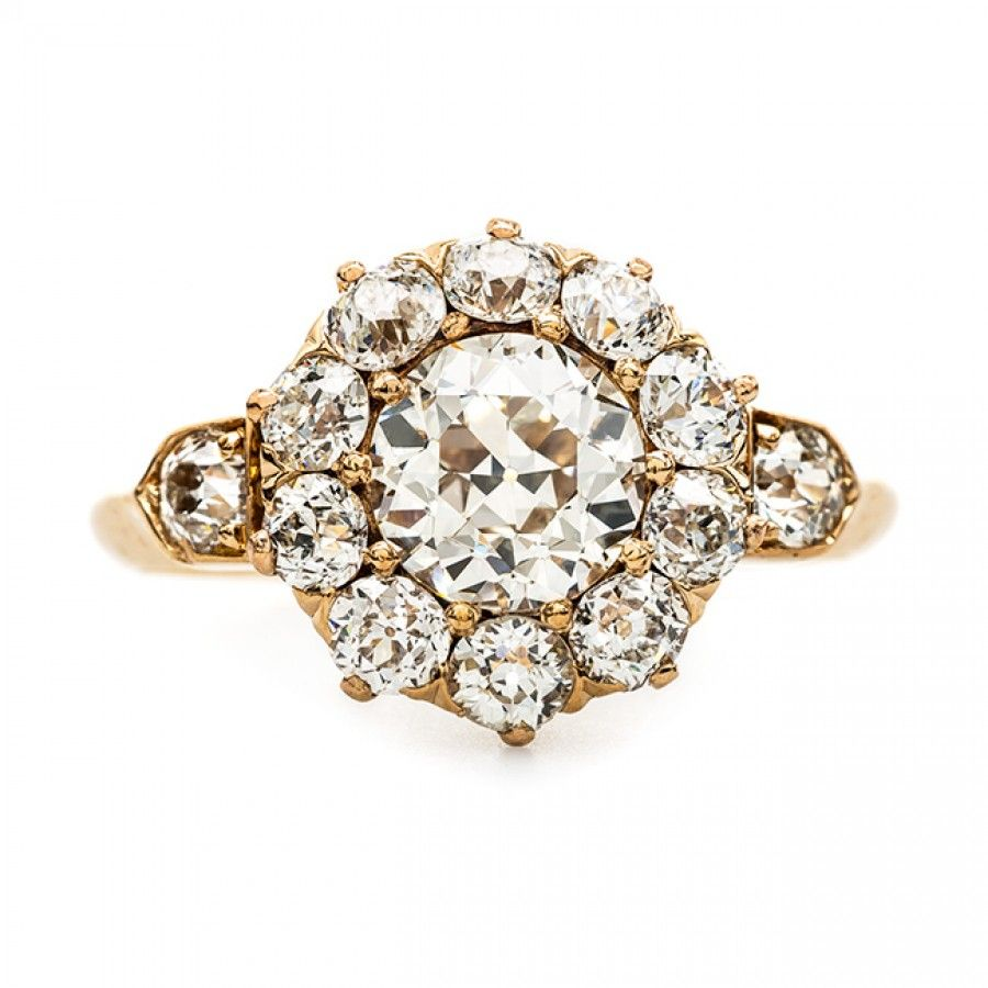 Vintage Rose Gold Halo Ring From Chicago