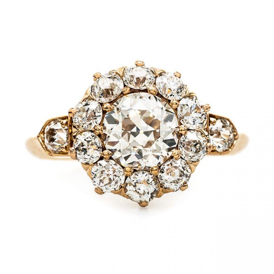 Vintage Rose Gold Halo Ring from Chicago Chestnut Street Trumpet