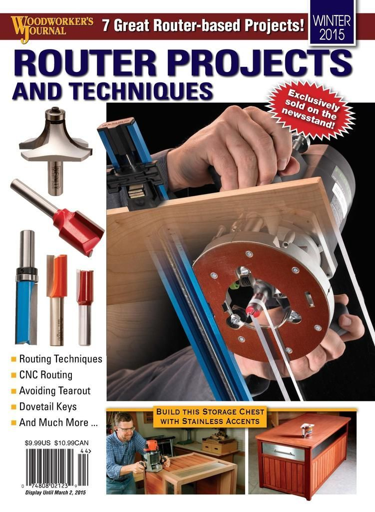 Woodworker S Journal Back Issue Winter 2015 Digital In 2020 Router Projects Woodworking Router Table Plans