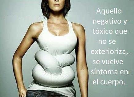 Aquello negativo y toxico que no se exterioriza se vuelve sintoma en el cuerpo.