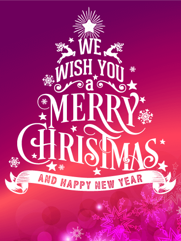 Typographic Style Merry Christmas Card Birthday Greeting Cards By Davia Merry Christmas Wishes Merry Christmas Quotes Wishing You A Merry Christmas And Happy New Year