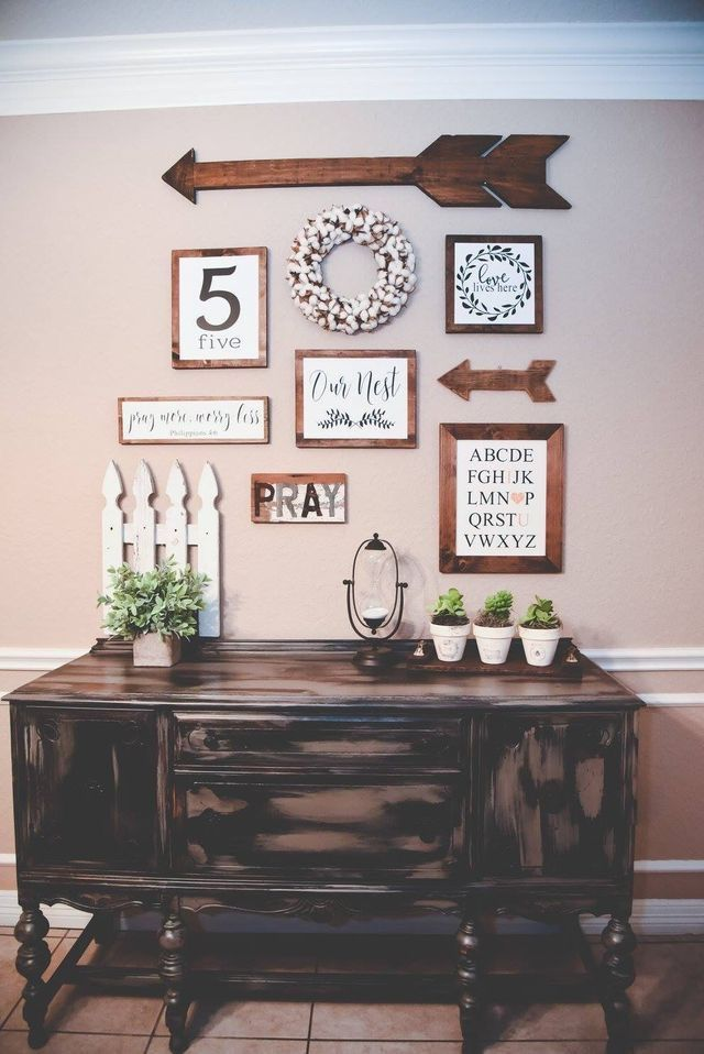 Farmhouse Shelves Dining Room