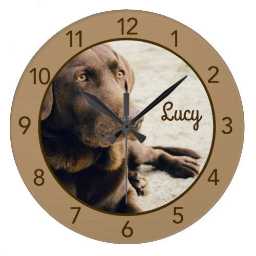 Chocolate Lab Dog Wall Clock