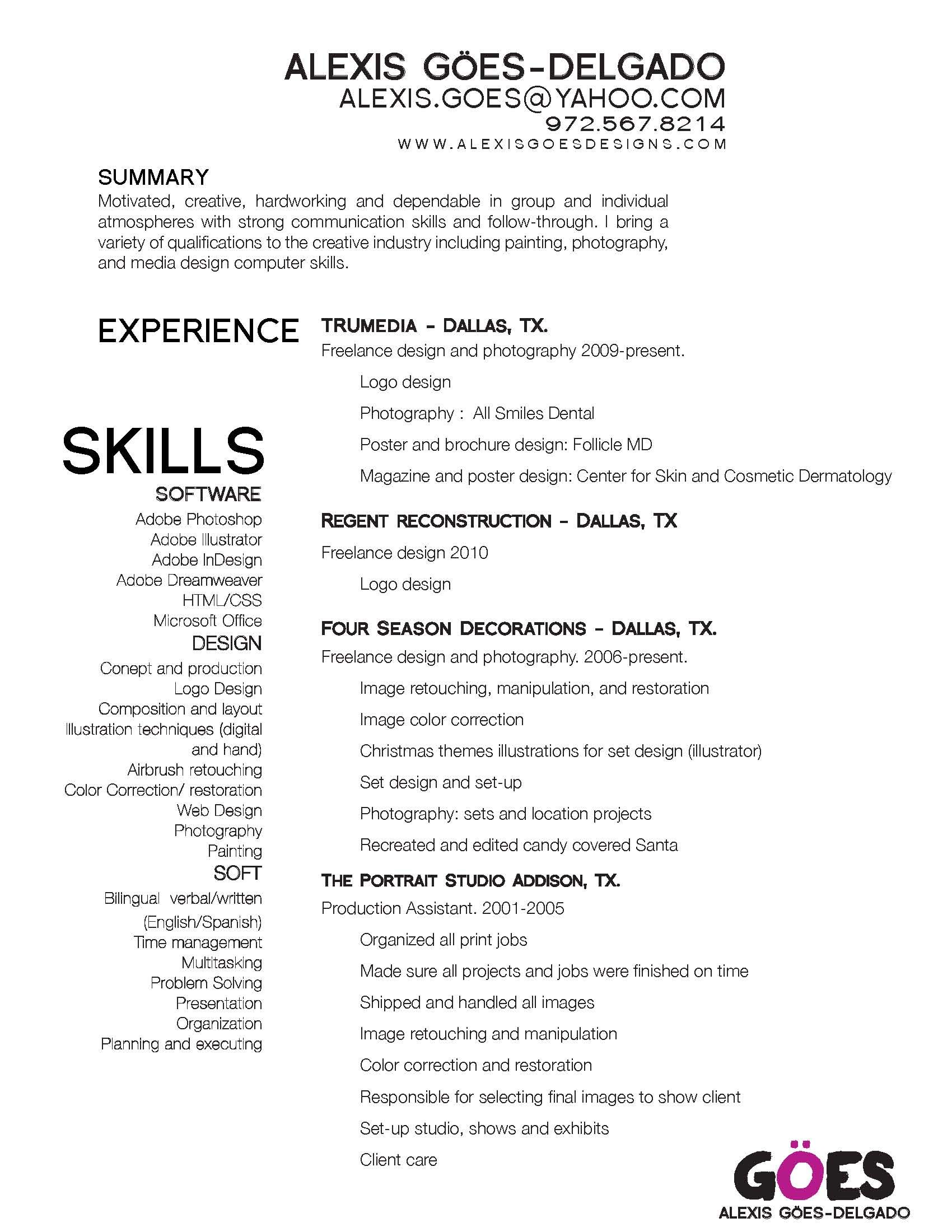 I like the wording of this resume graphic resume