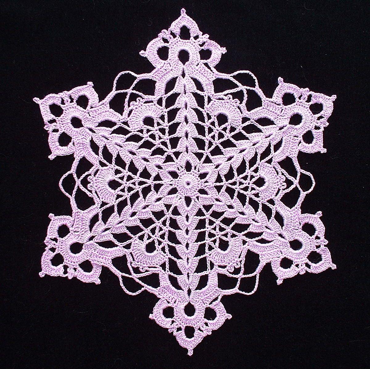 Cut Glass Snowflake Doily C Crochet Tutorials Patterns