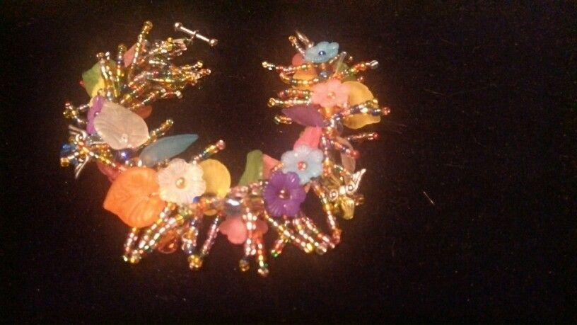 Sparklers Bracelet (design, Gail Lafler)