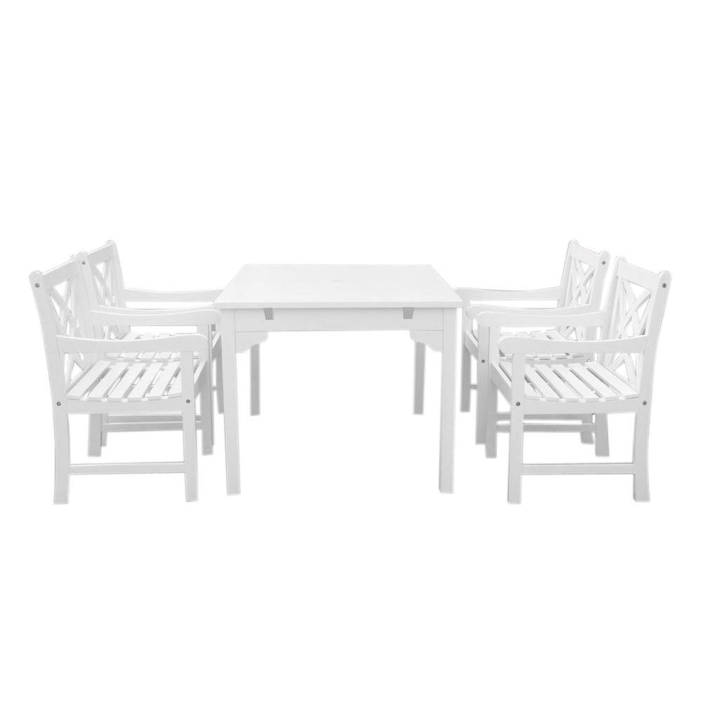 Vifah Bradley 5 Piece Rectangle Patio Dining Set Patio Furniture