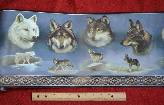 WOLF WALLPAPER ROLL for Collage Wolves by TheCoyoteWoman