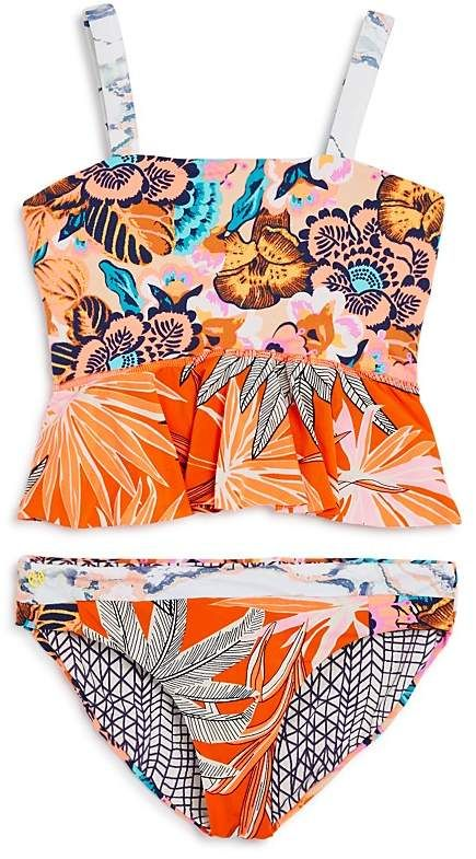 e4febb2c5d Maaji Girls' Florencia Sunset Reversible 2-Piece Tankini Swimsuit - Little  Kid, Big Kid