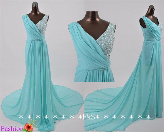 Turquoise Reception Dress