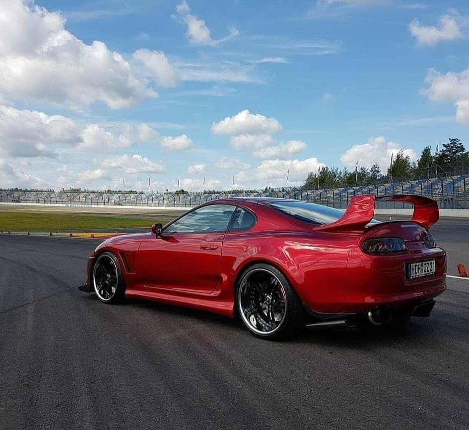 Photo of Candy red Toyota Supra 2JZ MK4