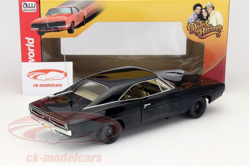 CK-Modelcars - AWSS110: Dodge Charger The Duke of Hazard 1969 schwarz 1:18 Autoworld, EAN 849398007334