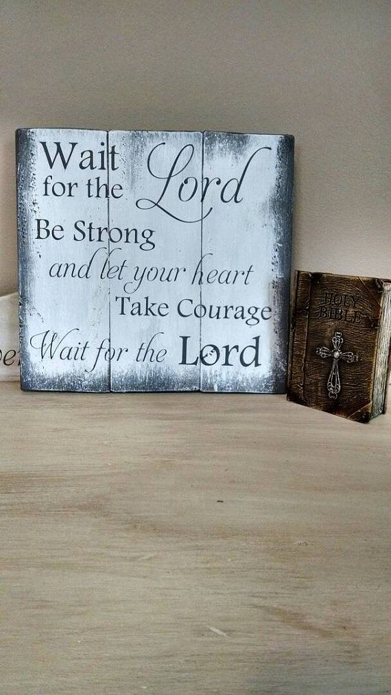 Christian Home Decor Be Strong and