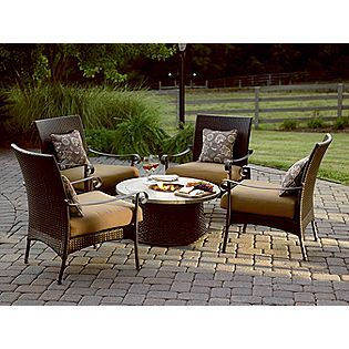 Simply Outdoors Roscoe 5 Pc Firepit Chat Set Sears Patio Ideas