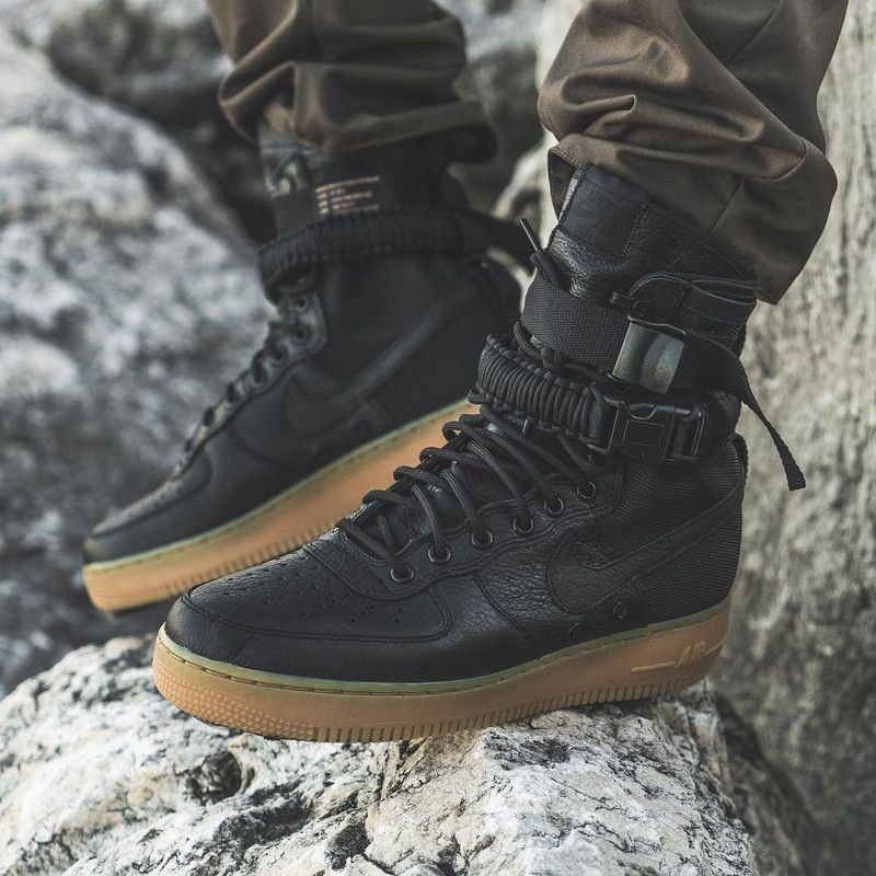 83c7d8e8c600 Nike SF AF-1. NIKE SPECIAL FIELD AIR FORCE 1 AS AF1 BLACK GUM LIGHT BROWN  ...