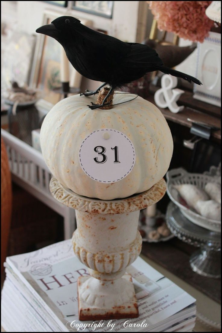 Boxwood Cottage Black  White Fall~Halloween  Kitchen Glimpses - fall and halloween decorations